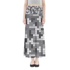 Tetris Camouflage Urban Full Length Maxi Skirt