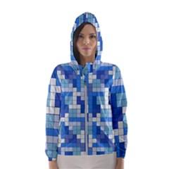 Tetris Camouflage Marine Hooded Wind Breaker (women)