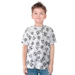 A Lot Of Skulls White Kids  Cotton Tee