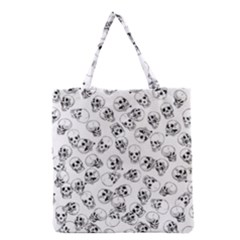 A Lot Of Skulls White Grocery Tote Bag