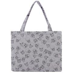 A Lot Of Skulls Grey Mini Tote Bag