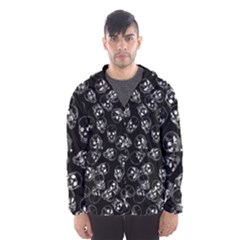 A Lot Of Skulls Black Hooded Wind Breaker (men)