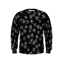 A Lot Of Skulls Black Kids  Sweatshirt