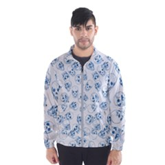 A Lot Of Skulls Blue Wind Breaker (men)