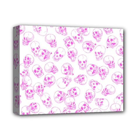 A Lot Of Skulls Pink Deluxe Canvas 14  X 11