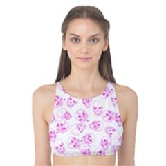 A Lot Of Skulls Pink Tank Bikini Top