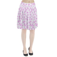 A Lot Of Skulls Pink Pleated Skirt