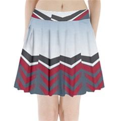 Modern Shapes Pleated Mini Skirt