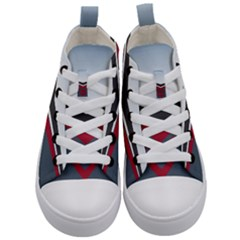 Modern Shapes Kid s Mid Top Canvas Sneakers