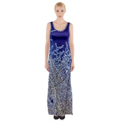 Crystalline Branches Maxi Thigh Split Dress