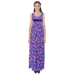 Retro Wave 1 Empire Waist Maxi Dress