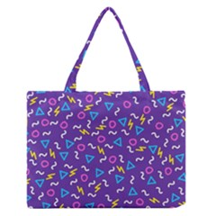 Retro Wave 1 Zipper Medium Tote Bag