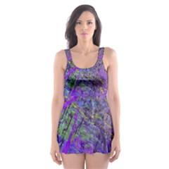 Ink Splash 02 Skater Dress Swimsuit
