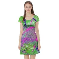 Ink Splash 03 Short Sleeve Skater Dress