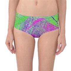 Ink Splash 03 Mid Waist Bikini Bottoms