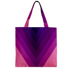 Tri 01 Zipper Grocery Tote Bag