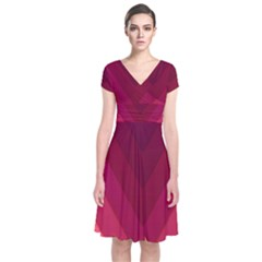 Tri 02 Short Sleeve Front Wrap Dress