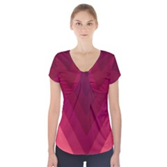 Tri 02 Short Sleeve Front Detail Top