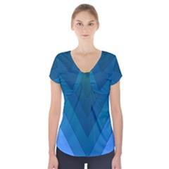 Tri 04 Short Sleeve Front Detail Top