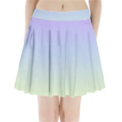Vanilla Gradient Pleated Mini Skirt