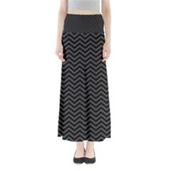Dark Chevron Full Length Maxi Skirt