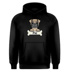Tan Pug With A Bone Men s Pullover Hoodie