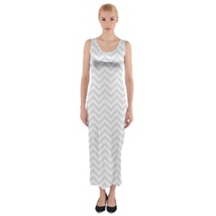 Light Chevron Fitted Maxi Dress