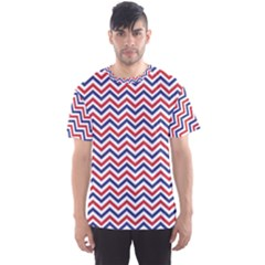 Navy Chevron Men s Sports Mesh Tee