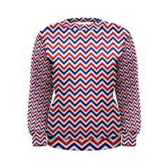 Navy Chevron Women s Sweatshirt