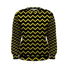 Yellow Chevron Women s Sweatshirt