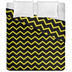 Yellow Chevron Duvet Cover Double Side (california King Size)