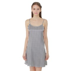 Basic Vertical Stripes Satin Night Slip