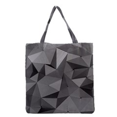 Geometric Doodle Grocery Tote Bag