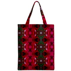 Christmas Colors Wrapping Paper Design Zipper Classic Tote Bag