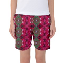 Christmas Colors Wrapping Paper Design Women s Basketball Shorts
