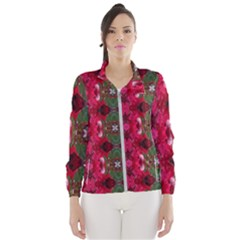 Christmas Colors Wrapping Paper Design Wind Breaker (women)