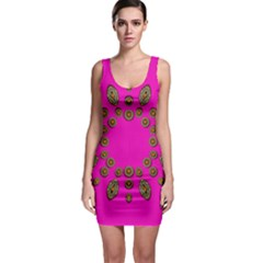 Sweet Hearts In  Decorative Metal Tinsel Bodycon Dress