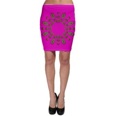 Sweet Hearts In  Decorative Metal Tinsel Bodycon Skirt