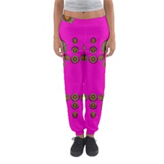 Sweet Hearts In  Decorative Metal Tinsel Women s Jogger Sweatpants