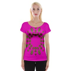 Sweet Hearts In  Decorative Metal Tinsel Cap Sleeve Tops