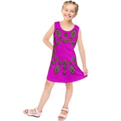 Sweet Hearts In  Decorative Metal Tinsel Kids  Tunic Dress