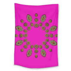 Sweet Hearts In  Decorative Metal Tinsel Large Tapestry