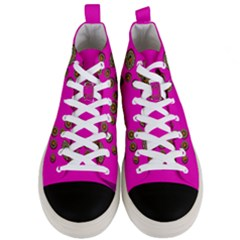 Sweet Hearts In  Decorative Metal Tinsel Men s Mid Top Canvas Sneakers