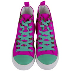 Sweet Hearts In  Decorative Metal Tinsel Women s Mid Top Canvas Sneakers