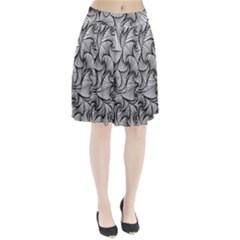 Fractal Sketch Light Pleated Skirt