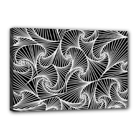 Fractal Sketch Dark Canvas 18  X 12