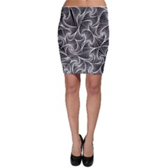 Fractal Sketch Dark Bodycon Skirt