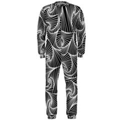 Fractal Sketch Dark Onepiece Jumpsuit (men)