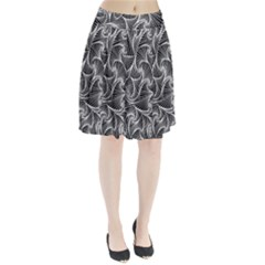 Fractal Sketch Dark Pleated Skirt