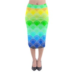 Art Deco Rain Bow Midi Pencil Skirt